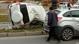 Очевидец в Снежинске снял на видео последствия ДТП