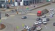 В Челябинске полицейский автомобиль опрокинулся в результате ДТП