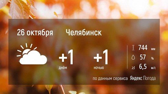 Температура воздуха на Южном Урале уйдет в «минус»