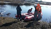 Силы МЧС доставили плавающий транспортер в Варненский район для борьбы с паводком