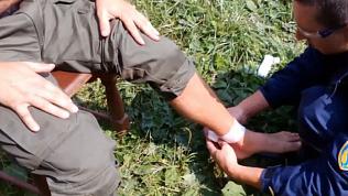 Спасатели сняли на видео пострадавшего на Таганае мужчину