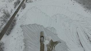 Челябинский полигон для вывоза снега сняли на видео с большой высоты