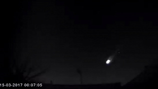 Огромный метеорит пролетел над свердловской областью