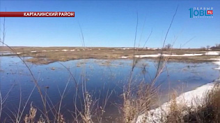 Ледяной затор стал причиной выхода реки из берегов