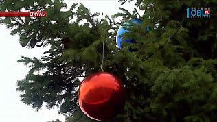 В Еткуле нарядили елку