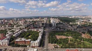 Цветущий Челябинск сняли на видео с высоты