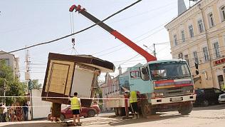 На месте демонтированных в Челябинске киосков появляются новые