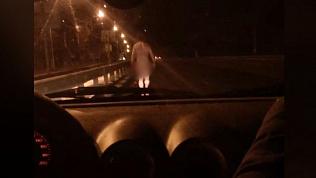 Окровавленный голый пешеход напугал златоустовцев
