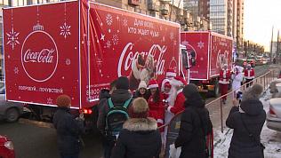 Новогодние грузовики под управлением Дедов Морозов прибыли в Челябинск