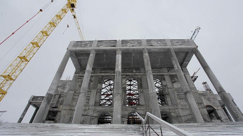 На северо-западе Челябинска продолжается возведение кафедрального собора