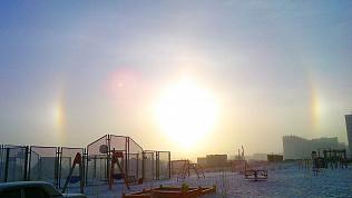 «Три солнца» и радугу наблюдали в небе южноуральцы