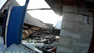 В Кыштыме от взрыва газа обрушился дом