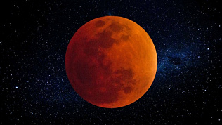 Завораживающее видео лунного затмения