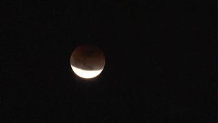 Кровавое затмение голубой Луны наблюдали жители планеты