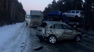 Водитель автовоза сообщил обстоятельства ДТП на трассе