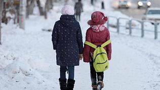 Морозы оставили дома южноуральских школьников
