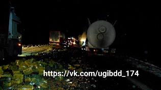 Водитель грузовика скончался в столкновении с большегрузом в Чебаркульском районе