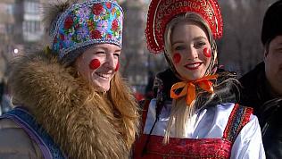 Жители Советского района простились с зимой