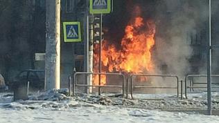 Маршрутка с пассажирами на ходу загорелась в Магнитогорске