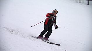 90-летний горнолыжник осуществил свою мечту