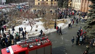 Главный корпус ЮУрГУ эвакуировали по пожарной тревоге