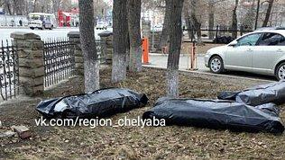 Руководство горбольницы выясняет, как полные мешки для трупов оказались на газоне