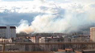 Крупный лесной пожар в Миассе сняли на видео местные жители