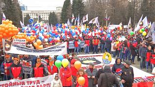 Первомайский митинг прошел в Челябинске
