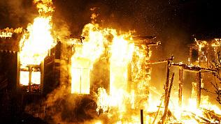 Пожар в садовом домике унес жизнь 45-летнего мужчины
