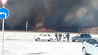Стена горящего леса заблокировала движение на юге области