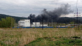 Златоуст затянуло черным дымом из-за пожаров