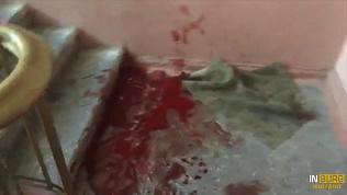 Кровавый конфликт в одном из домов на улице Худякова. Видео 18+