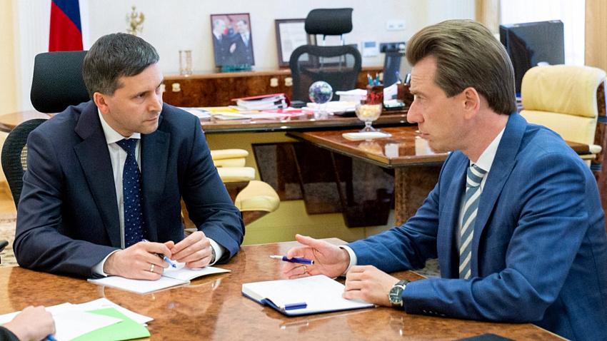 Депутат Госдумы Владимир Бурматов провел рабочую встречу с Министром природы Р Ф Дмитрием Кобылкиным