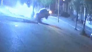 В Южноуральске пьяный водитель протаранил бетонный столб
