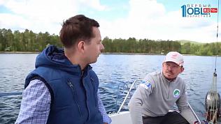 Наше УТРО на ОТВ – ведущие на выезде яхта