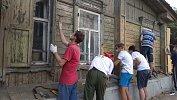 Челябинцы приступили к реставрации старинного дома на Российской