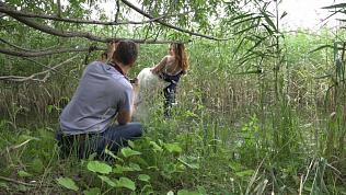 Свадебную фотосессию на болоте устроили южноуральские молодожены