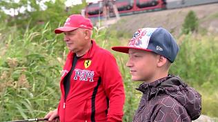 Сын пристрастил отца к рыбалке