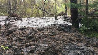 В Катав-Ивановске снова начал движение огромный грязевой поток