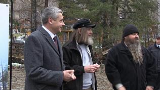Федор Конюхов заложил первый камень в фундамент строительства новой часовни в «Солнечной долине»