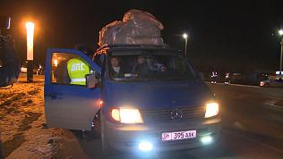 Задержание микроавтобуса с иностранцами на трассе попало на видео