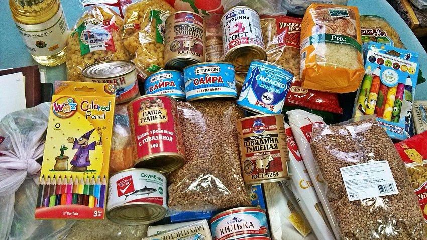 В продуктовом магазине Златоуста еду бесплатно раздают малоимущим.