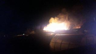Жилой дом сгорел дотла из-за ветхой проводки
