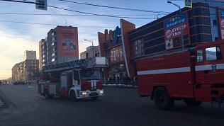 Эвакуация посетителей ТРК «Радуга» попала на видео