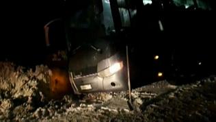 Автобус с 47-ю детьми застрял на трассе М5