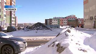 Челябинские дворы «тонут» в снегу