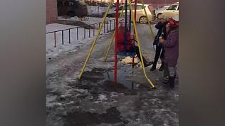 Собачьи отходы заполонили двор в Курчатовском районе. ВИДЕО