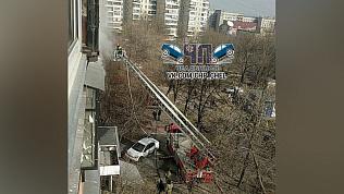 Дневной пожар на проспекте Победы попал на видео