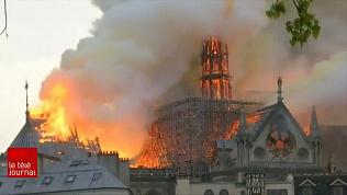 Пожар в знаменитом соборе бушевал 9 часов. Кадры исторического проишествия на видео