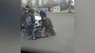 Ребенка сбила иномарка недалеко от гостиницы «Виктории». ВИДЕО